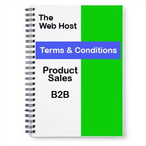 Website Terms and Conditions Product Sales B2B