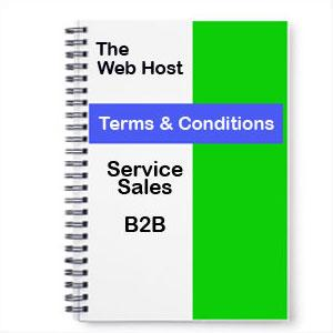Website Terms and Conditions Service Sales B2B